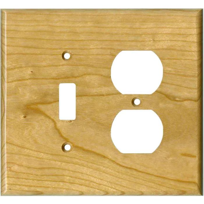 Cherry Satin Lacquer - Combination 1 Toggle/Outlet Cover Plates