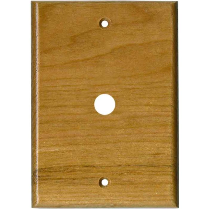 Cherry Satin Lacquer Coax Cable TV Wall Plates