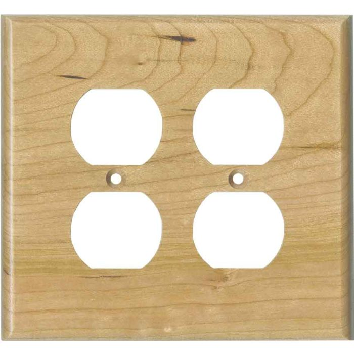 Cherry Unfinished - 2 Gang Electrical Outlet Covers