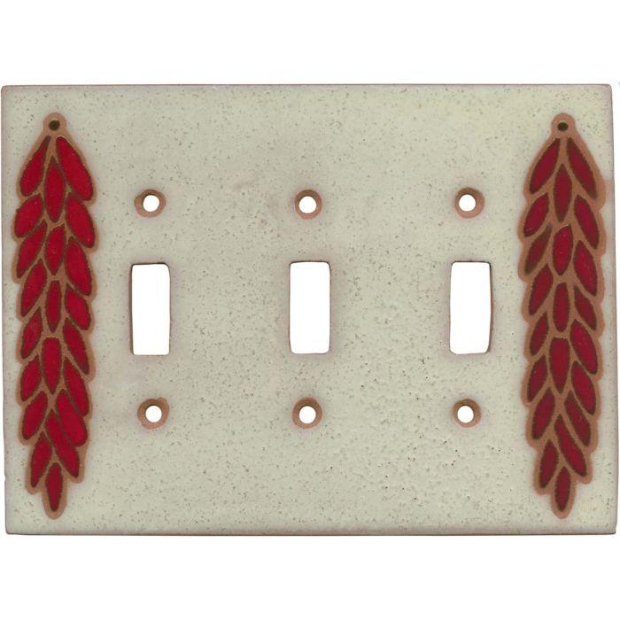 Chili Braid Ivory Triple 3 Toggle Light Switch Covers