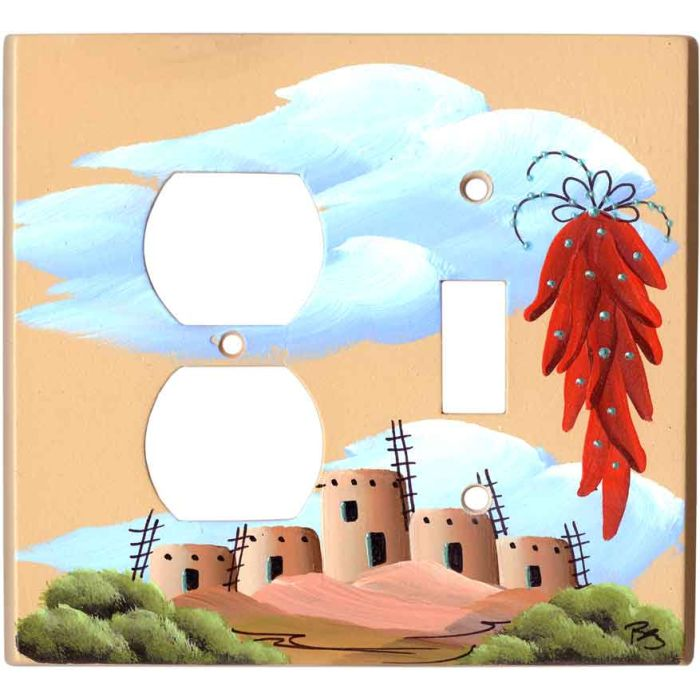 Chili Pueblo 1-Duplex / 1-Toggle - Combination Wall Plates