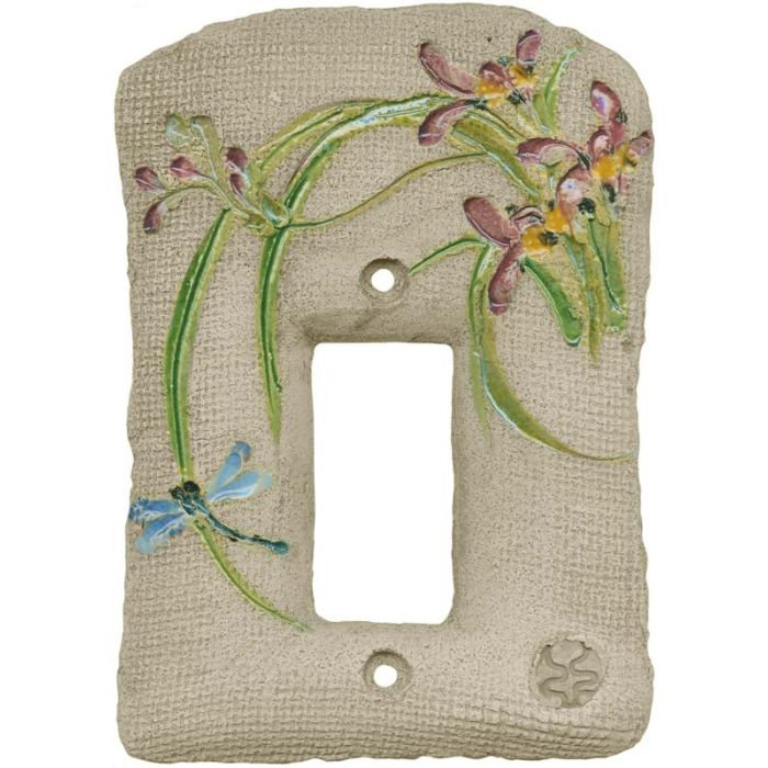 Chinese Orchid Maroon Single 1 Gang GFCI Rocker Decora Switch Plate Cover