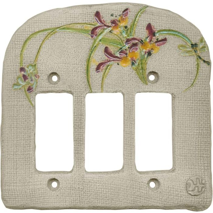Chinese Orchid Maroon Triple 3 Rocker GFCI Decora Light Switch Covers