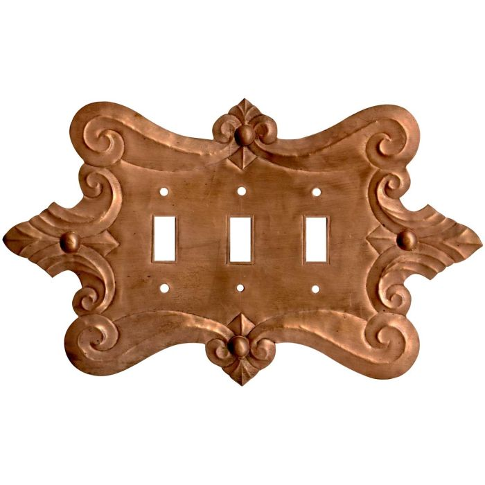 Compasse Oxidized Triple 3 Toggle Light Switch Covers