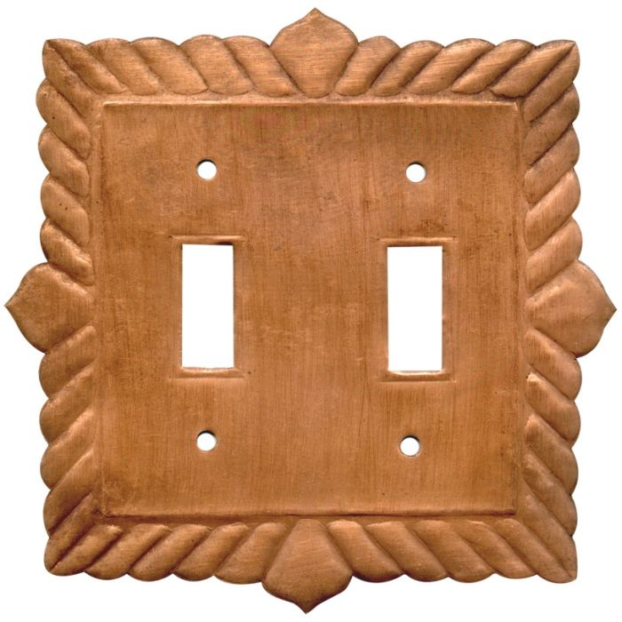 Viet Nam Oxidized Double 2 Toggle Switch Plate Covers