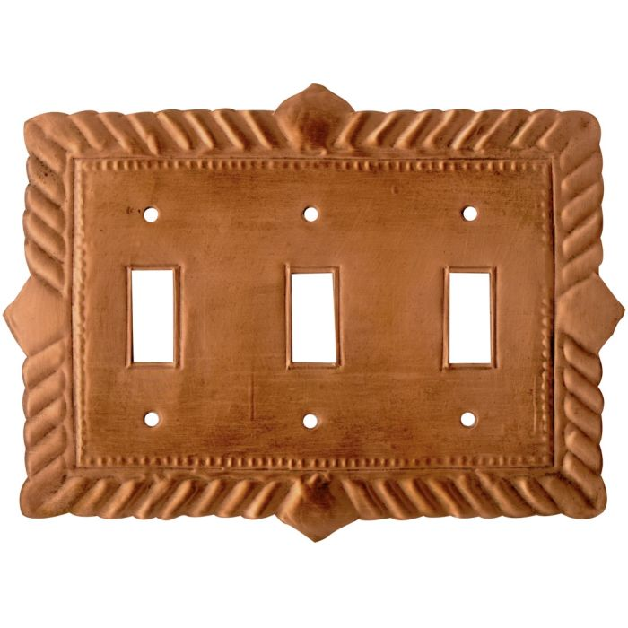 Viet Nam Oxidized Triple 3 Toggle Light Switch Covers