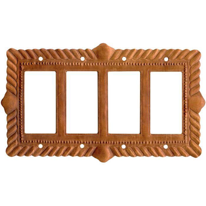 Viet Nam Oxidized 4 Rocker GFCI Decorator Switch Plates