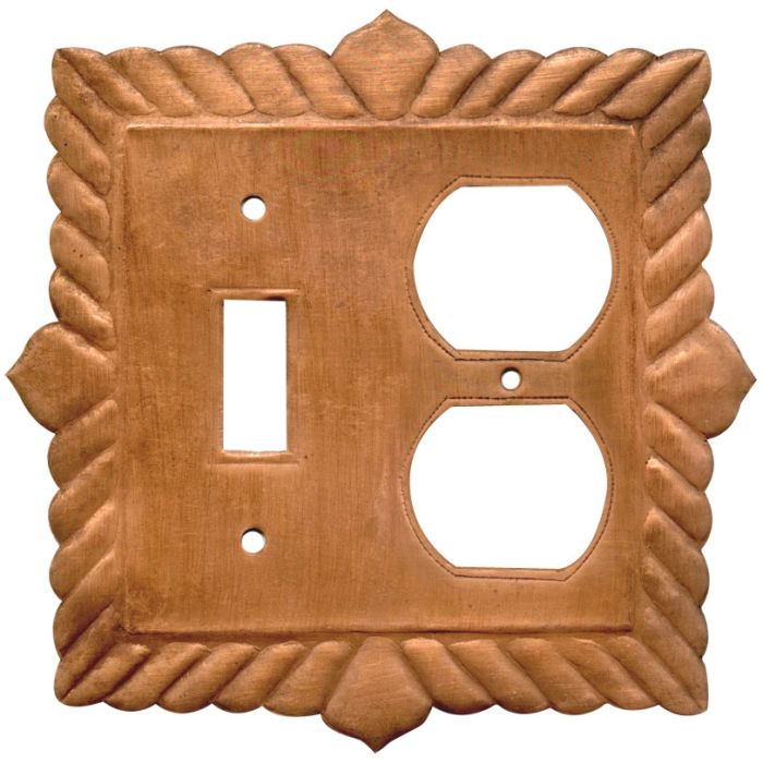 Viet Nam Oxidized Combination 1 Toggle / Outlet Cover Plates