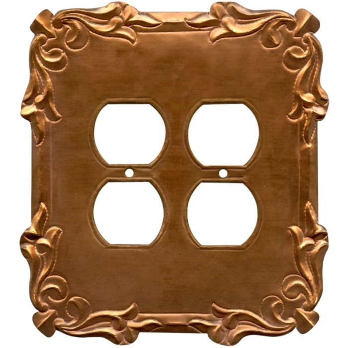 Mariah Oxidized 2 Gang Duplex Outlet Wall Plate Cover