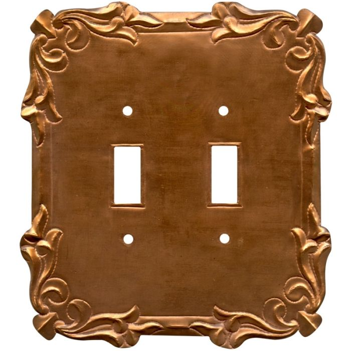Mariah Oxidized Double 2 Toggle Switch Plate Covers