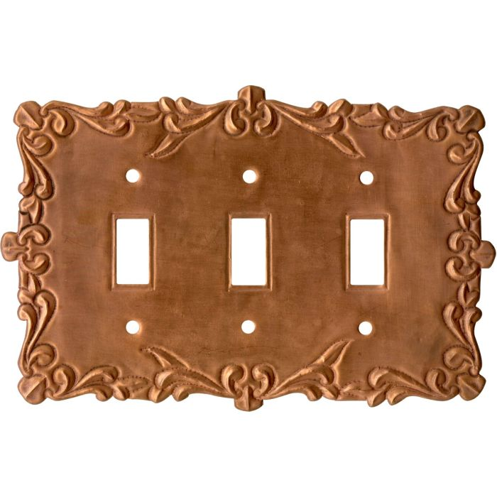 Mariah Oxidized Triple 3 Toggle Light Switch Covers