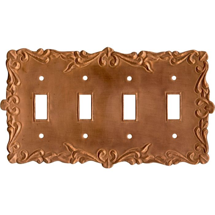 Mariah Oxidized Quad 4 Toggle Light Switch Covers