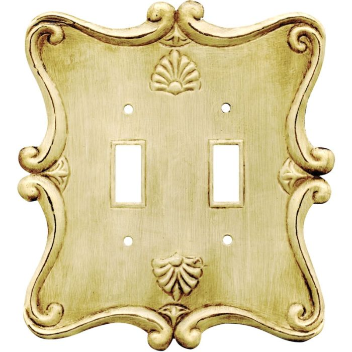 Shell Double 2 Toggle Switch Plate Covers