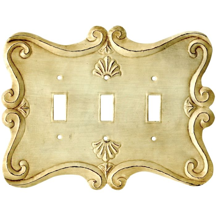 Shell Triple 3 Toggle Light Switch Covers