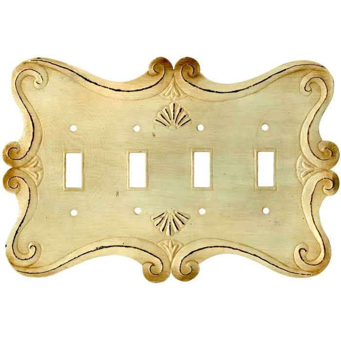 Shell Quad 4 Toggle Light Switch Covers