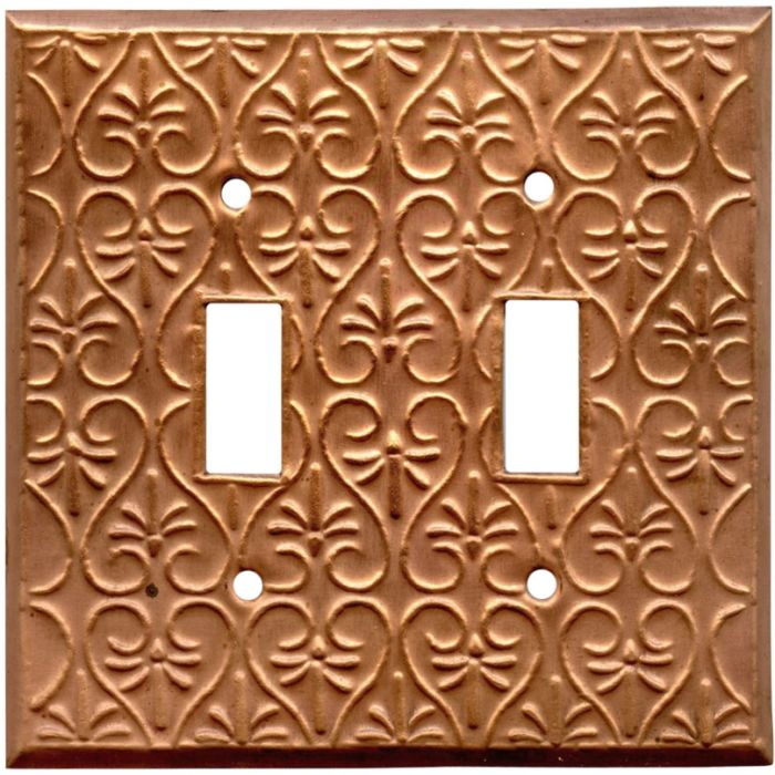 Filigree Oxidized Double 2 Toggle Switch Plate Covers