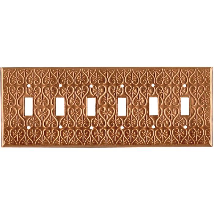 Filigree Oxidized 6 Toggle Wall Plate Covers