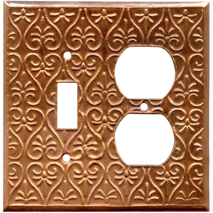Filigree Oxidized Combination 1 Toggle / Outlet Cover Plates