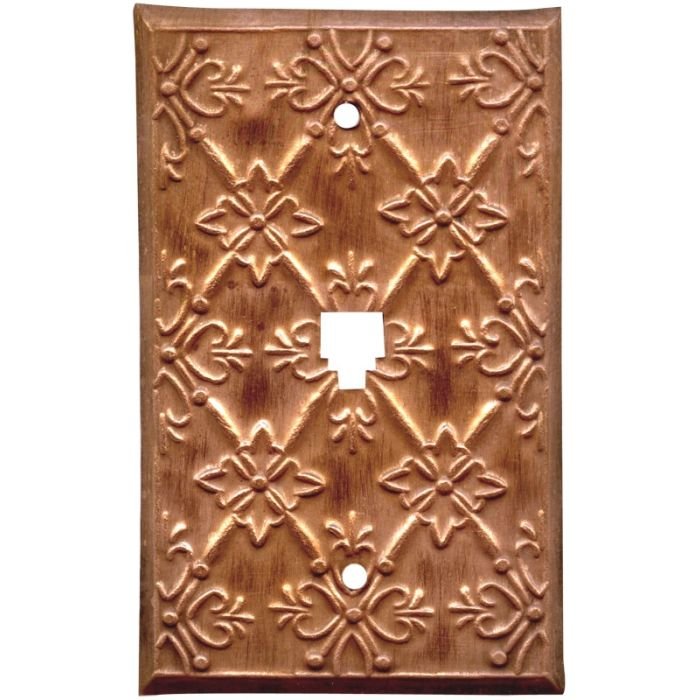 Baroque Oxidized 1 Toggle Light Switch Cover