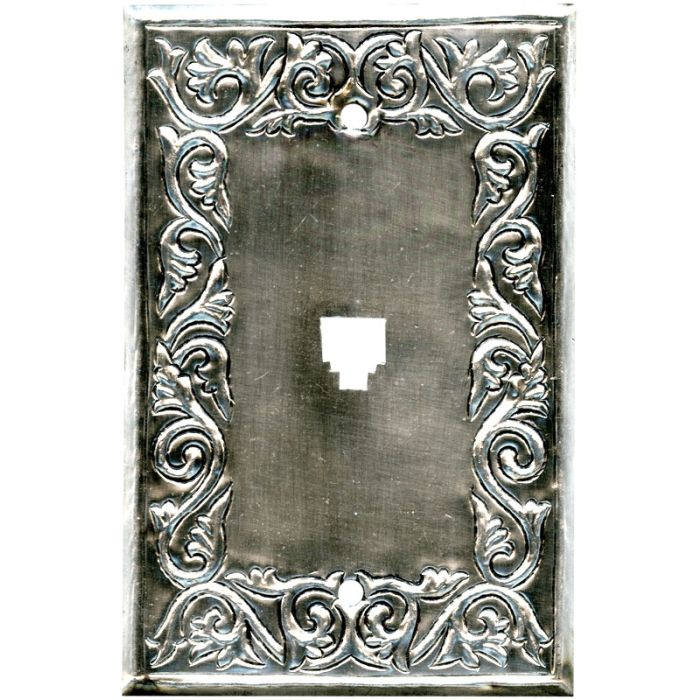 Scroll Silver 1 Toggle Light Switch Cover