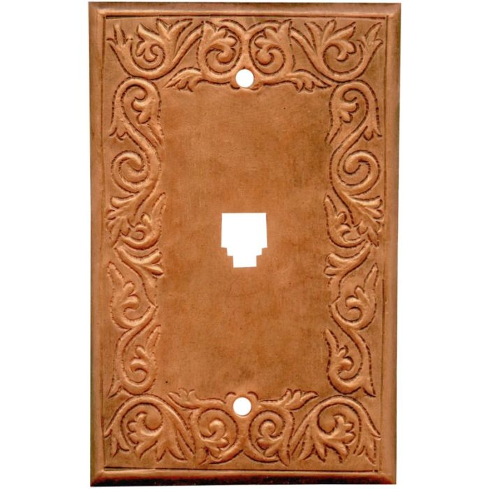 Scroll Oxidized 1 Toggle Light Switch Cover