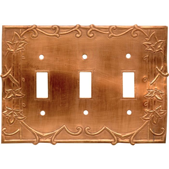 Ivy Oxidized Triple 3 Toggle Light Switch Covers