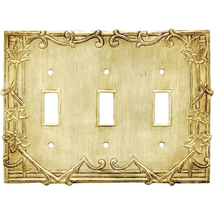 Ivy Triple 3 Toggle Light Switch Covers