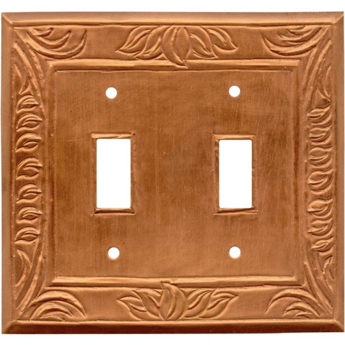 Wheat Oxidized Double 2 Toggle Switch Plate Covers