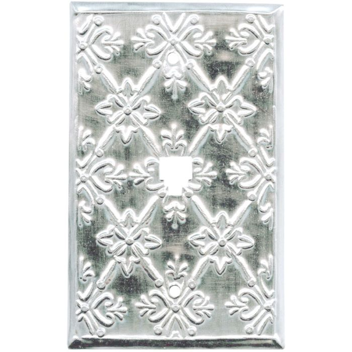 Baroque Silver 1 Toggle Light Switch Cover
