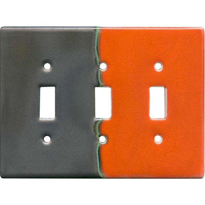 Citrus Triple 3 Toggle Light Switch Covers