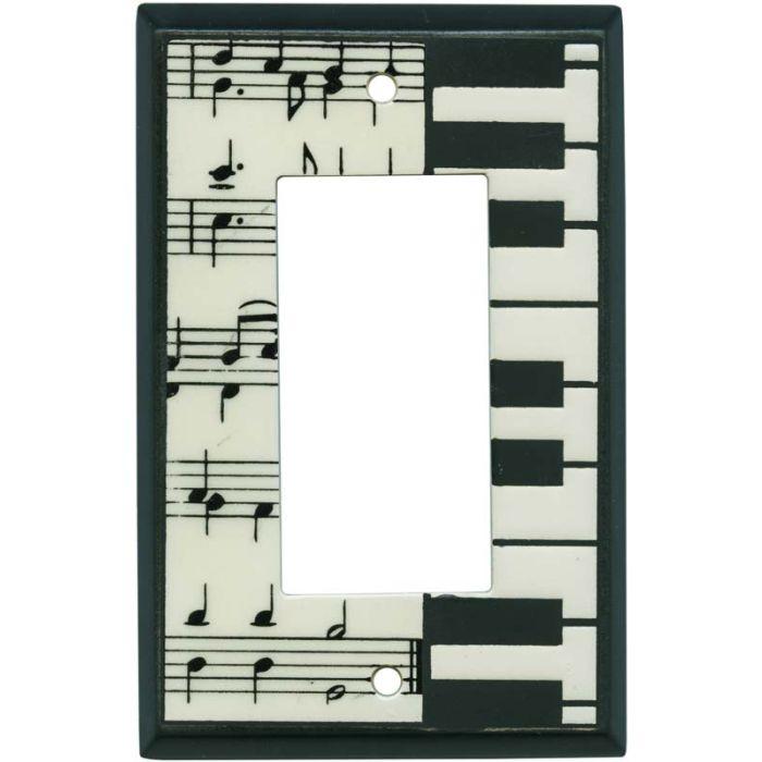 Classical Music Ceramic1-Gang GFCI Decorator Rocker Switch Plate Cover