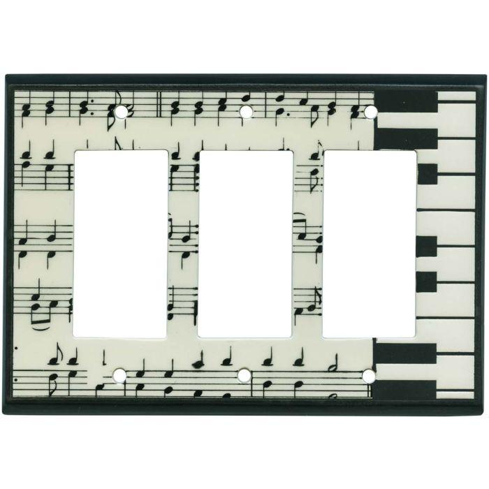 Classical Music Ceramic3 - Rocker / GFCI Decora Switch Plate Cover