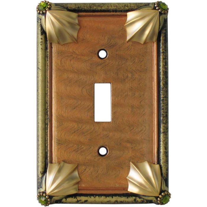 Cleo Amber Jade Single 1 Toggle Light Switch Plates