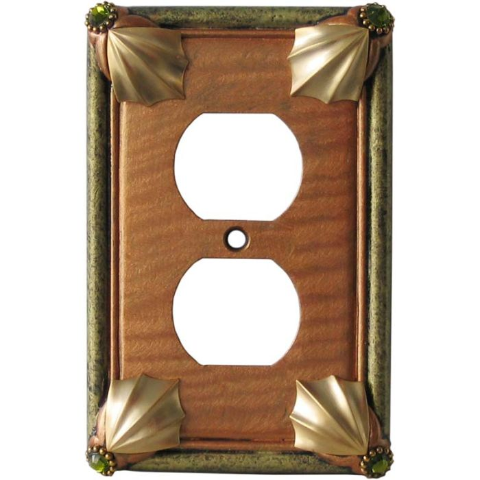 Cleo Amber Jade 1 Gang Duplex Outlet Cover Wall Plate