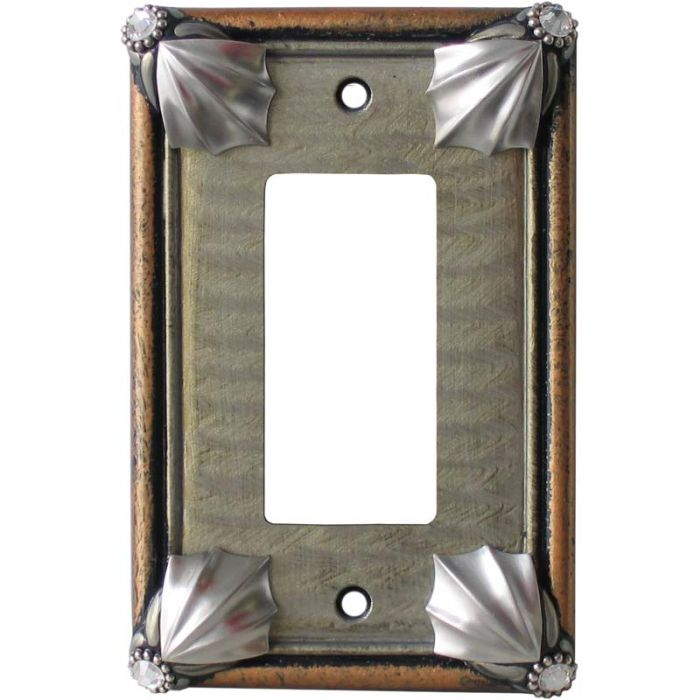 Cleo Deep Opal Amber 1-Gang GFCI Decorator Rocker Switch Plate Cover