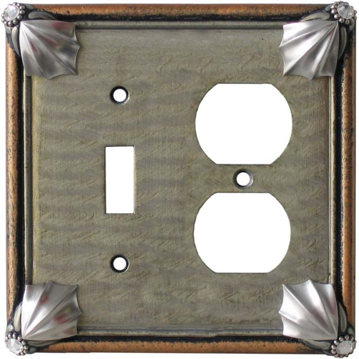 Cleo Deep Opal Amber Combination 1 Toggle / Outlet Cover Plates