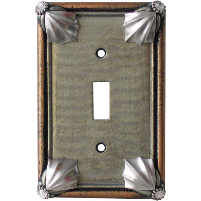 Cleo Deep Opal Amber Single 1 Toggle Light Switch Plates