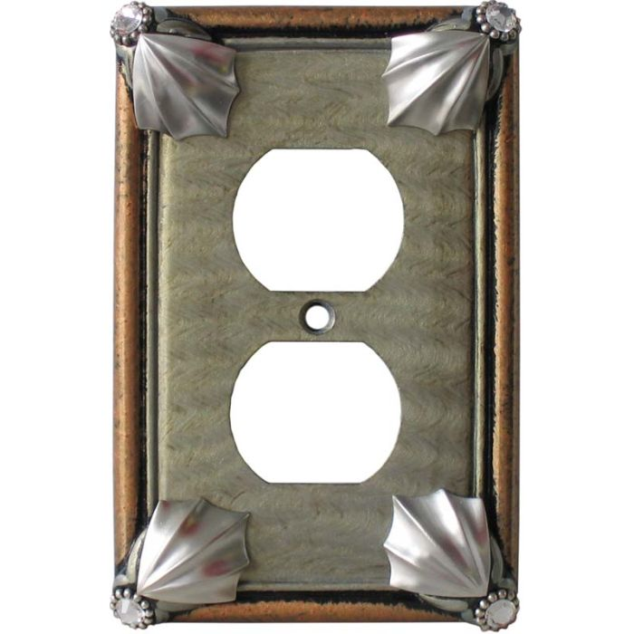 Cleo Deep Opal Amber 1 Gang Duplex Outlet Cover Wall Plate