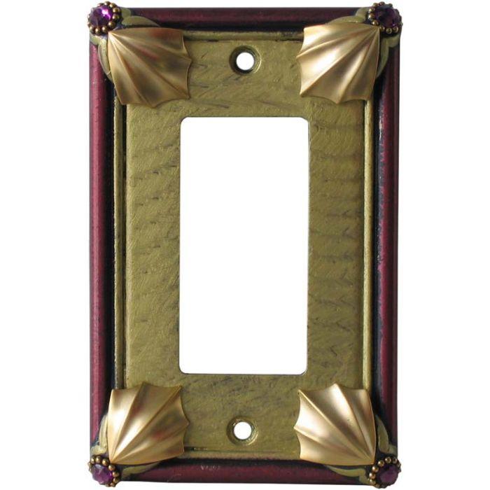 Cleo Jade Garnet Single 1 Gang GFCI Rocker Decora Switch Plate Cover