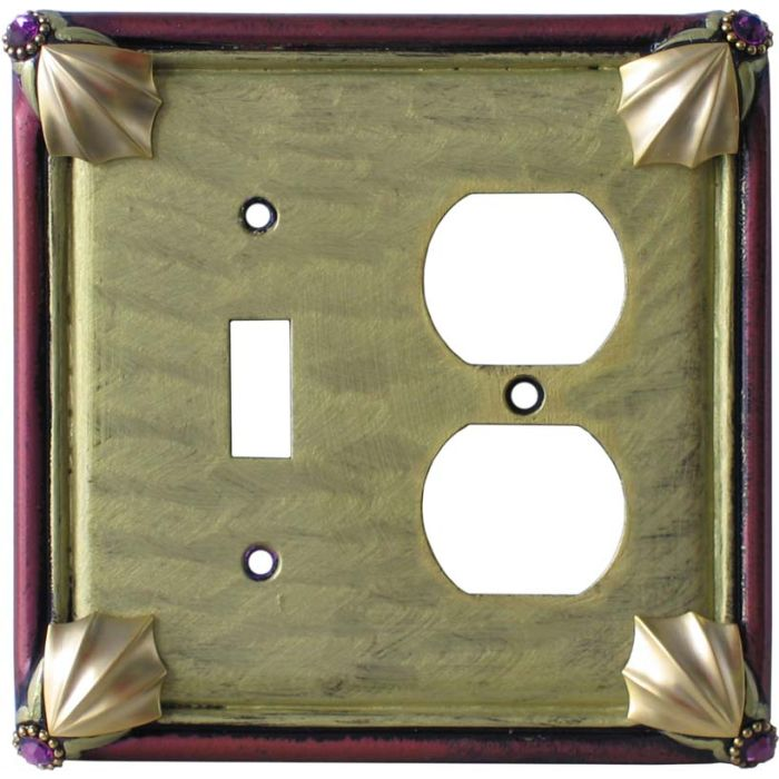 Cleo Jade Garnet Combination 1 Toggle / Outlet Cover Plates