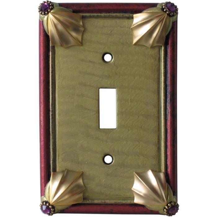 Cleo Jade Garnet Single 1 Toggle Light Switch Plates