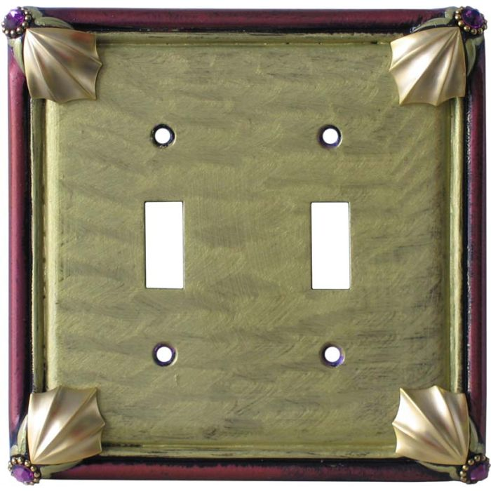 Cleo Jade Garnet Double 2 Toggle Switch Plate Covers