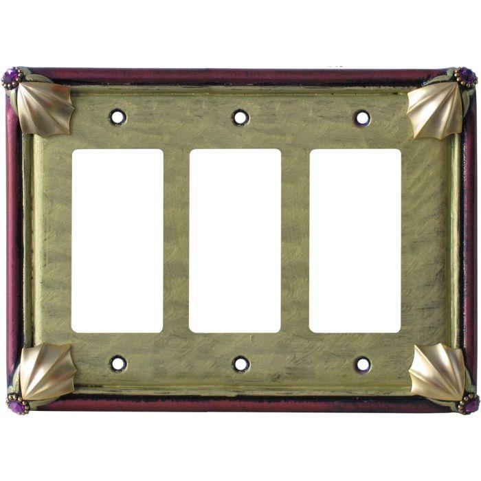 Cleo Jade Garnet Triple 3 Rocker GFCI Decora Light Switch Covers