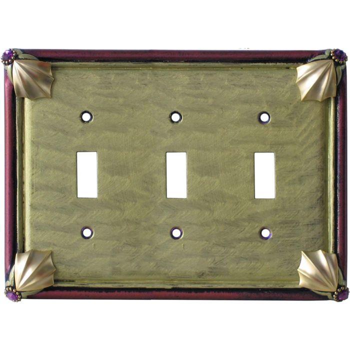 Cleo Jade Garnet Triple 3 Toggle Light Switch Covers