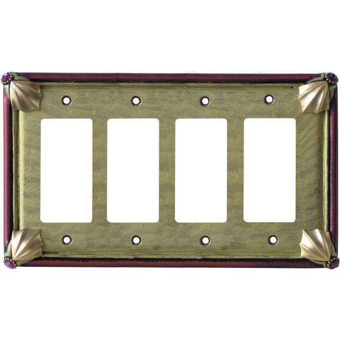 Cleo Jade Garnet 4 Rocker GFCI Decorator Switch Plates