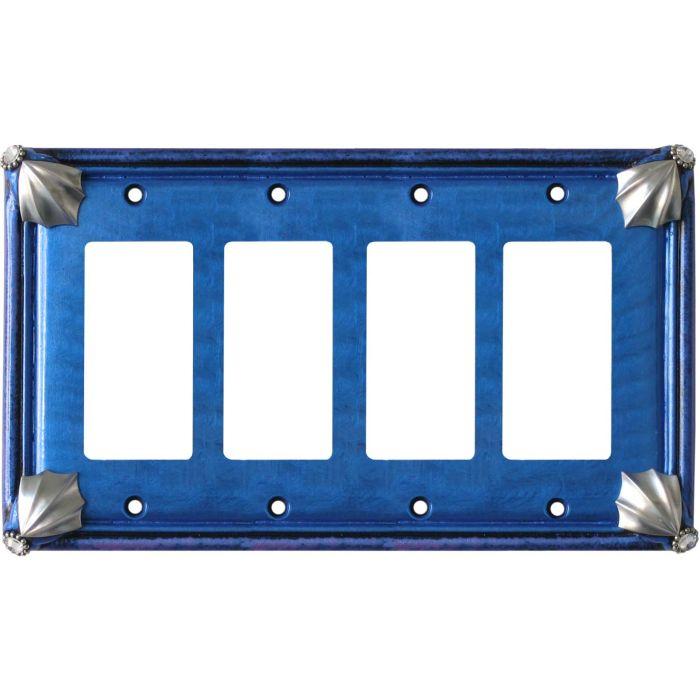 Cleo Lapis Periwinkle 4 Rocker GFCI Decorator Switch Plates