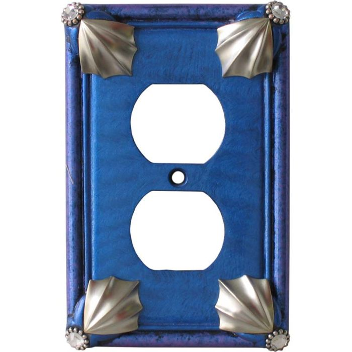 Cleo Lapis Periwinkle 1 Gang Duplex Outlet Cover Wall Plate