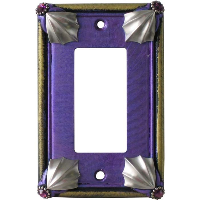 Cleo Periwinkle Jade Single 1 Gang GFCI Rocker Decora Switch Plate Cover