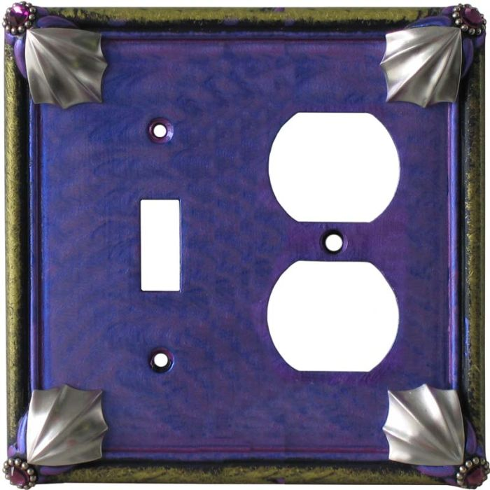 Cleo Periwinkle Jade Combination 1 Toggle / Outlet Cover Plates