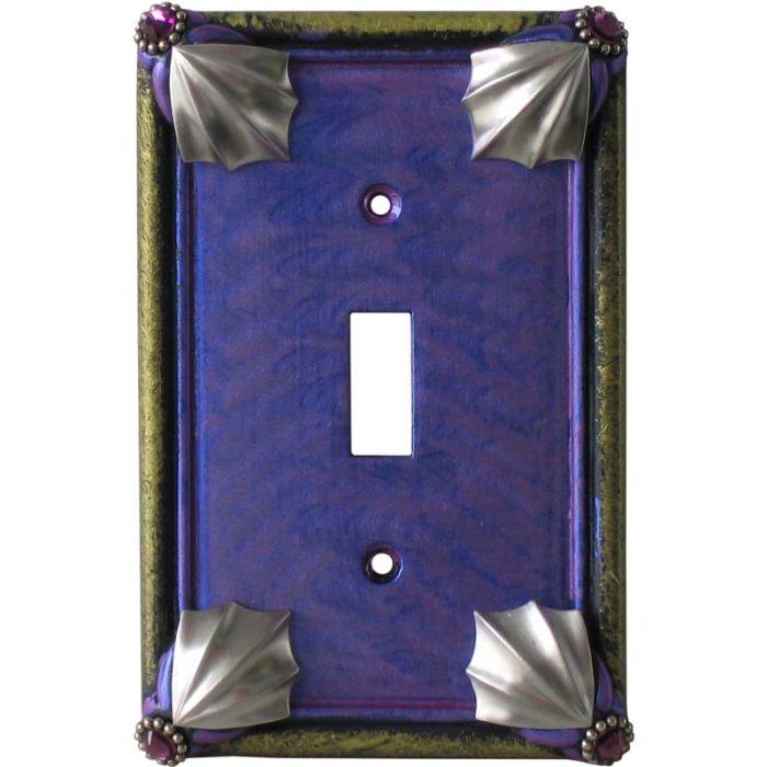 Cleo Periwinkle Jade Single 1 Toggle Light Switch Plates
